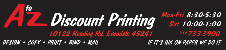Cincinnati Printing | Copy |  A to Z Discount Printing, Cincinnati, Ohio