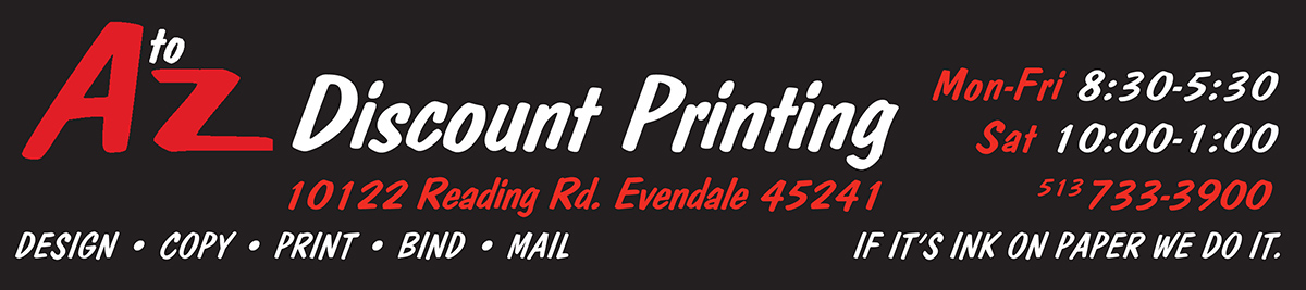 A to Z Discount Printing, Cincinnati, Ohio